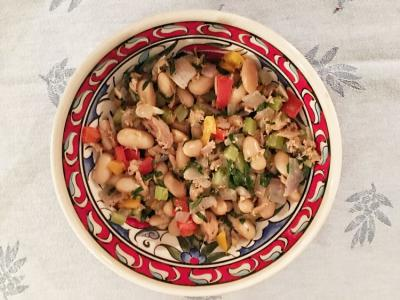 Tuna with White Beans, Celery, and Peppers