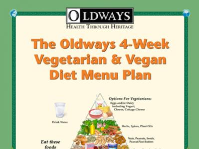 Vegetarian and Vegan Menu Plan Book