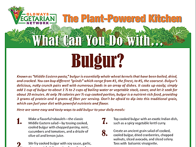 What can you do with bulgur?
