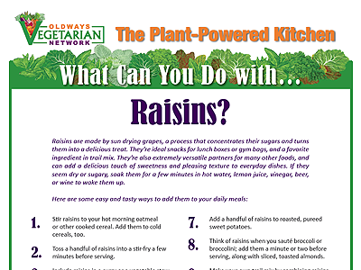 What can you do with raisins