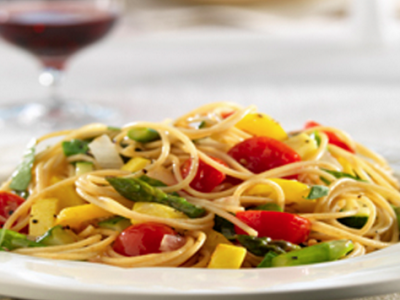 Whole Grain Spaghetti with Vegetables