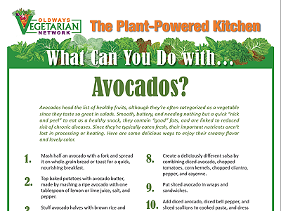 What can you do with avocados?