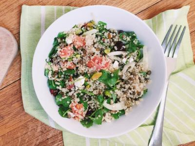 Winter Quinoa Salad with Fennel and Oranges