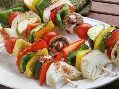 Roasted Vegetable Kebabs