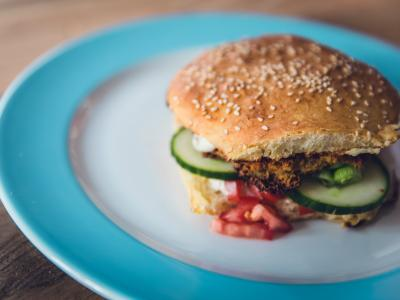 Veggie burger stock image-Unsplash