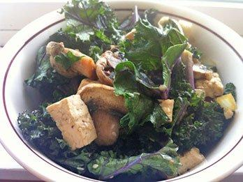 Asian Shiitake and Kale Bowl