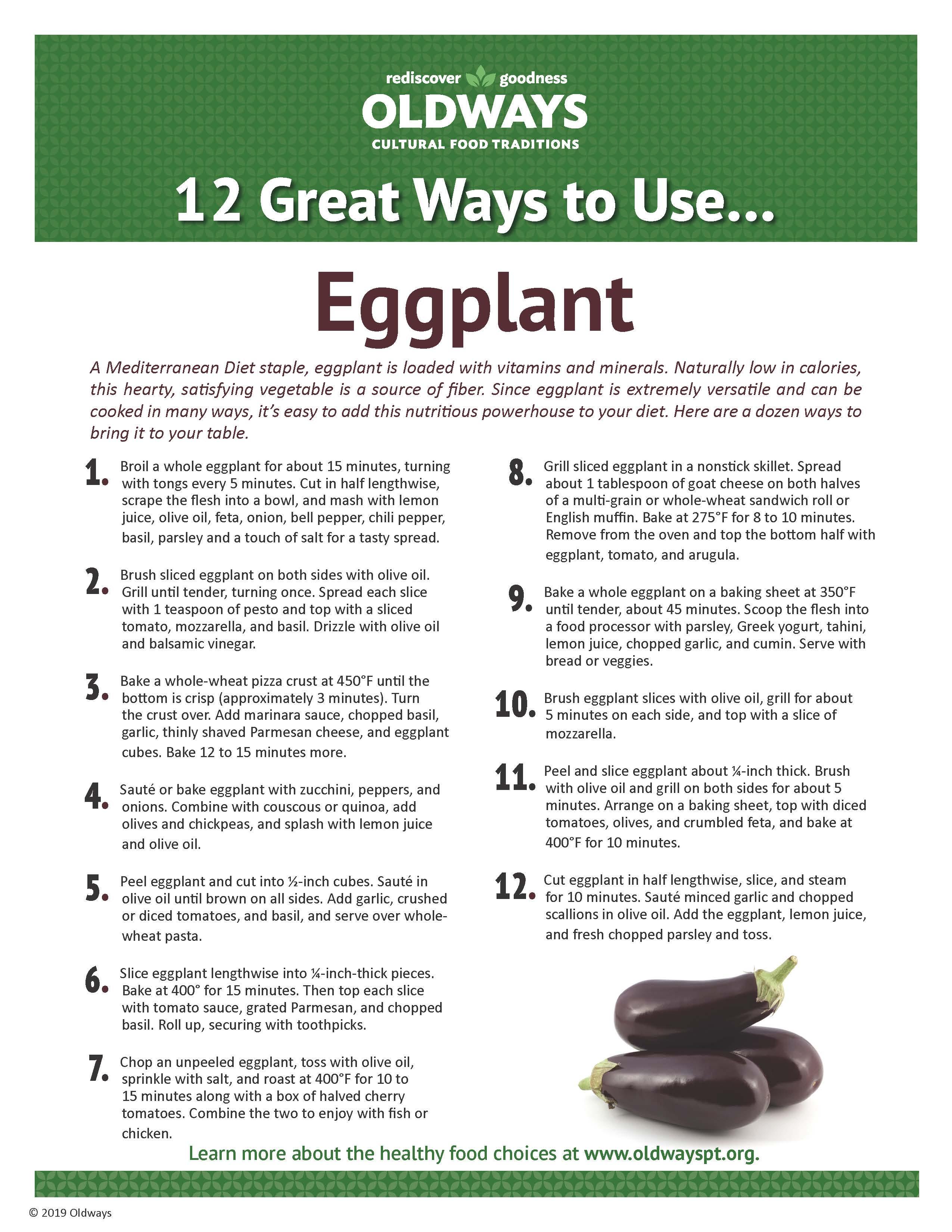 12 Great Ways to Use Eggplant | Oldways
