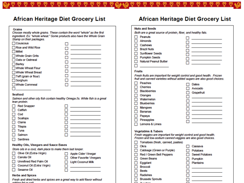 African Heritage Diet Grocery List Oldways