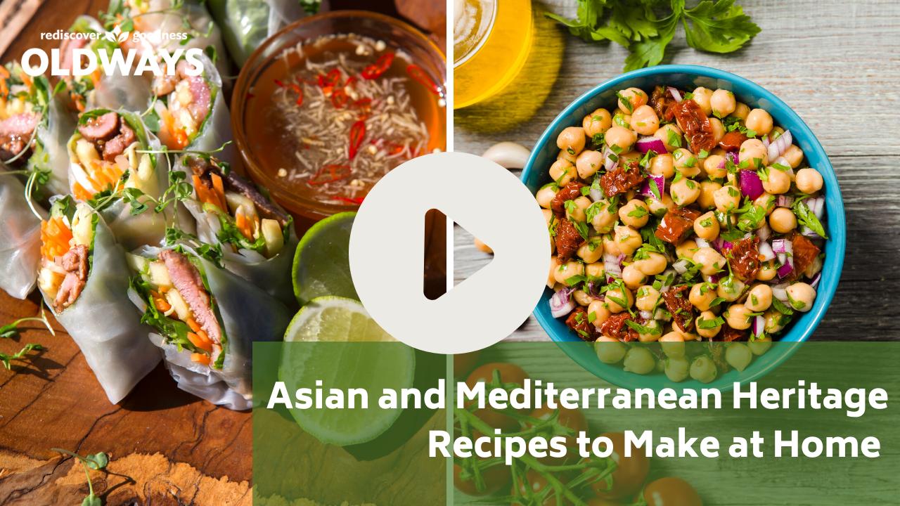 Mediterranean diet and Asian Heritage Diet recipes video