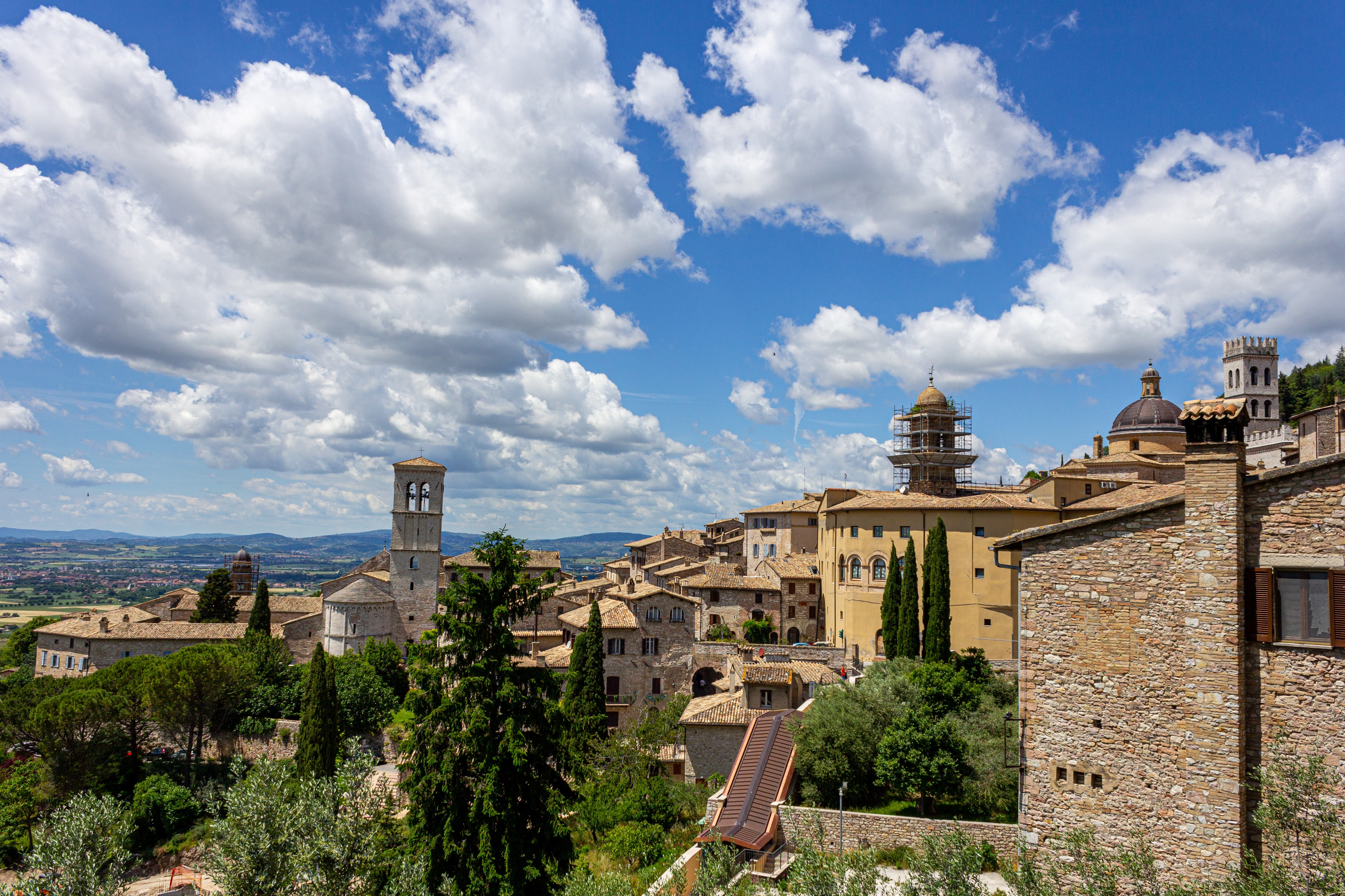 View of Assisi in Umbria, Italy