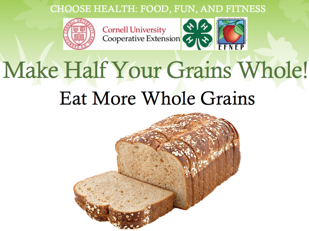 "Cornell University Cooperative Extension: ""Make Half Your"