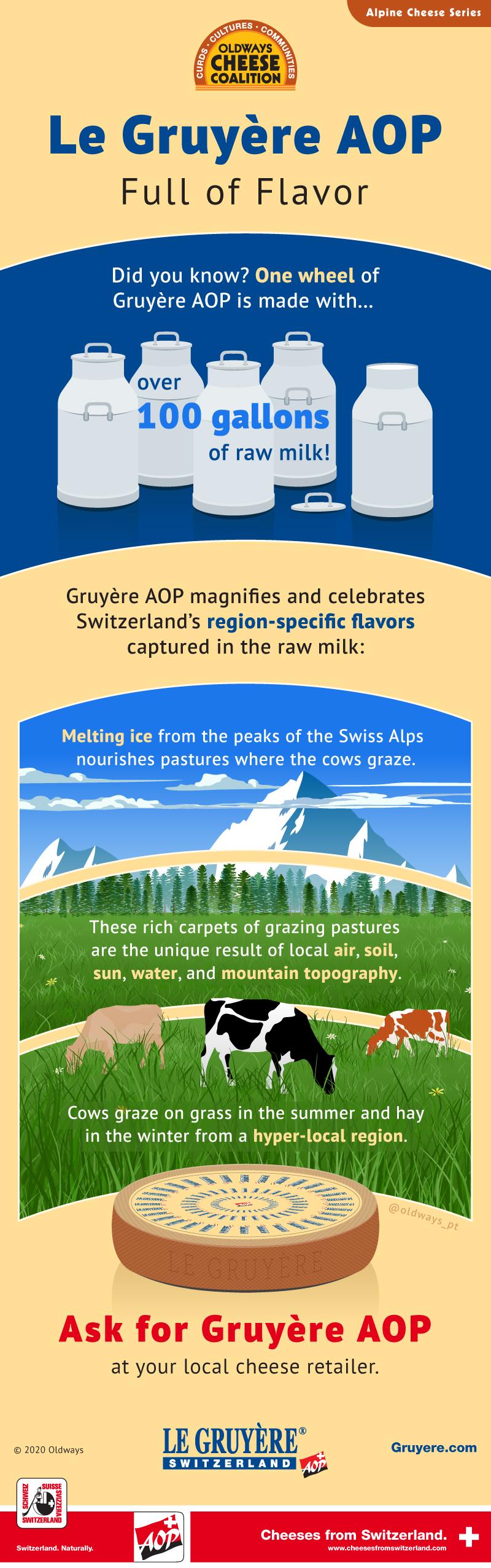 Gruyere Alpine Cheese Infographic