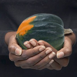 Hands with Melon