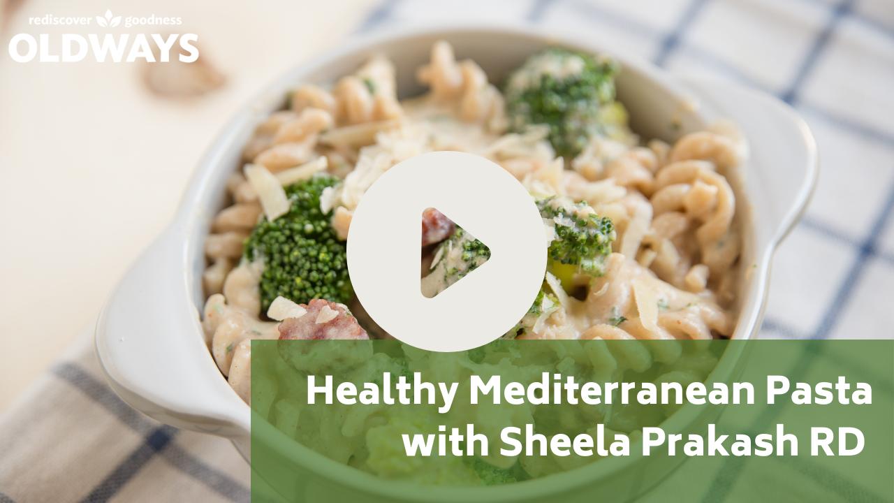 Healthy Mediterranean Pasta YouTube thumbnail