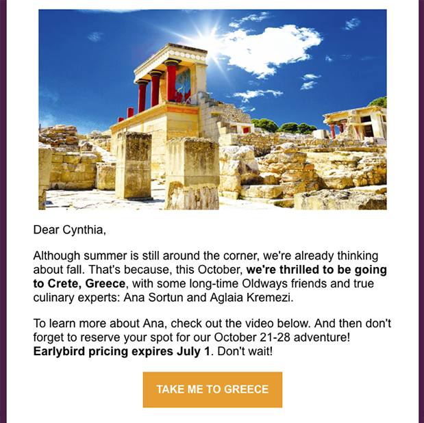 Newsletter Travel Greece