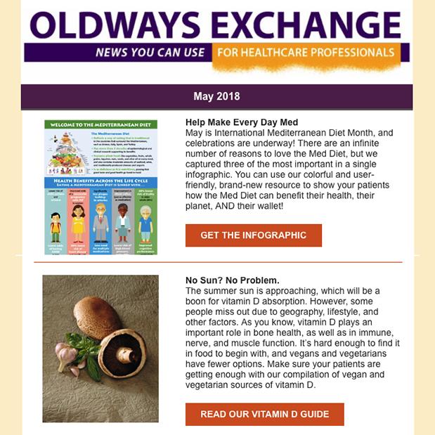 Newsletter Oldways Exchange
