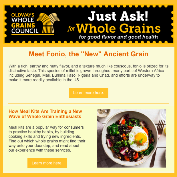 Newsletter Whole Grains