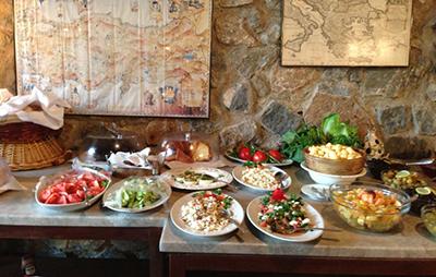 Mediterranean breakfast foods