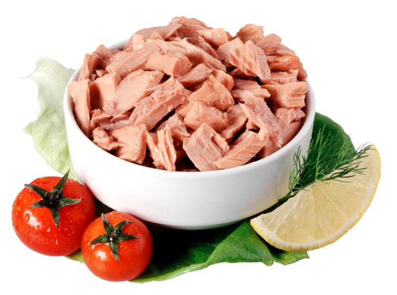 Chunk tuna in a bowl