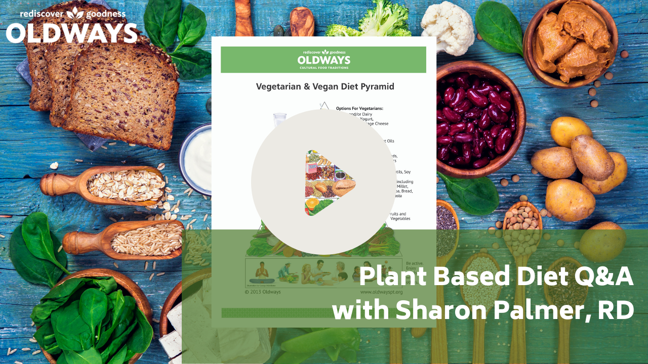 Plant Based Diet Q&A with Sharon Palmer RD YouTube thumbnail