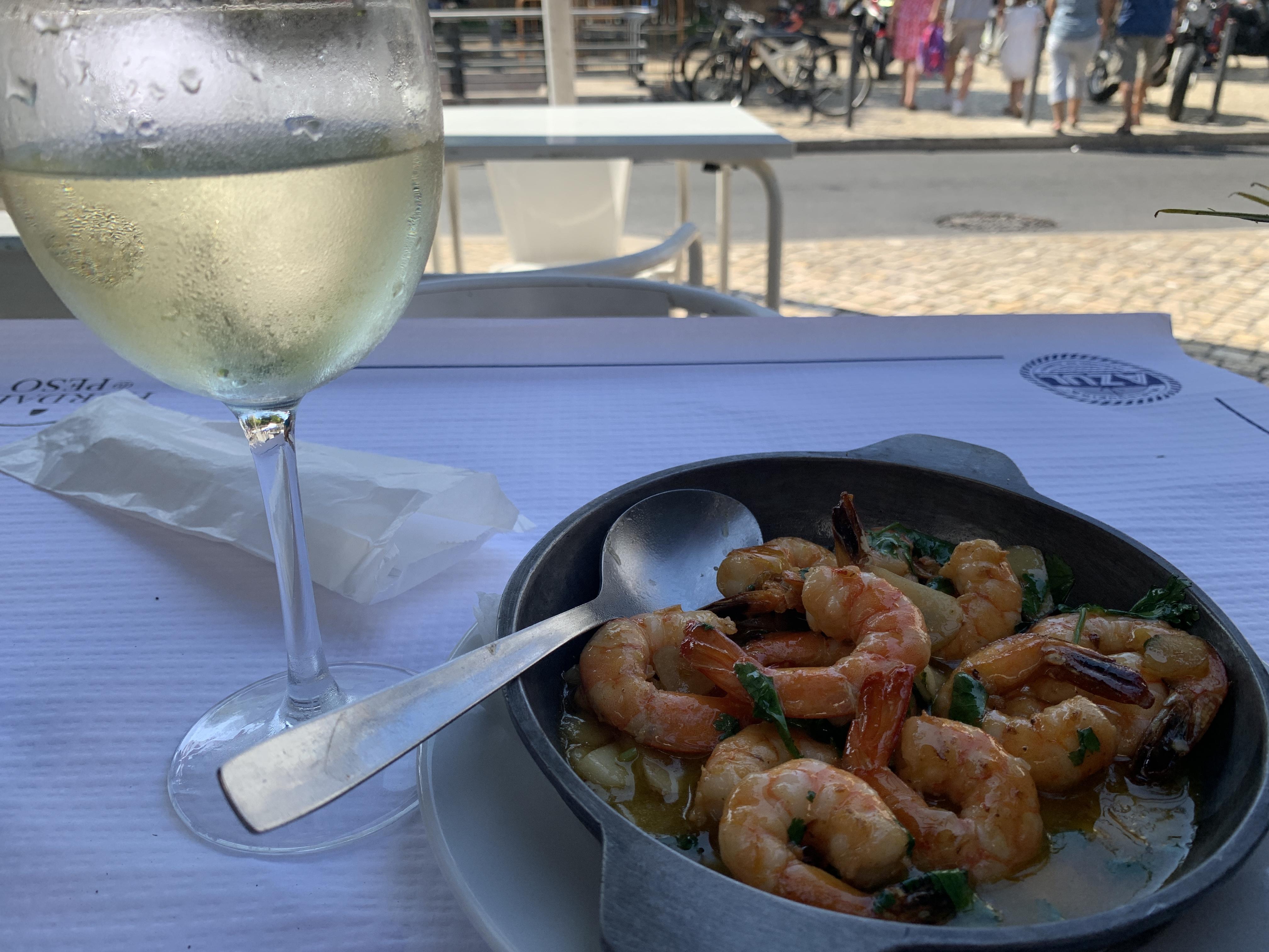 Shrimp with wine.JPG