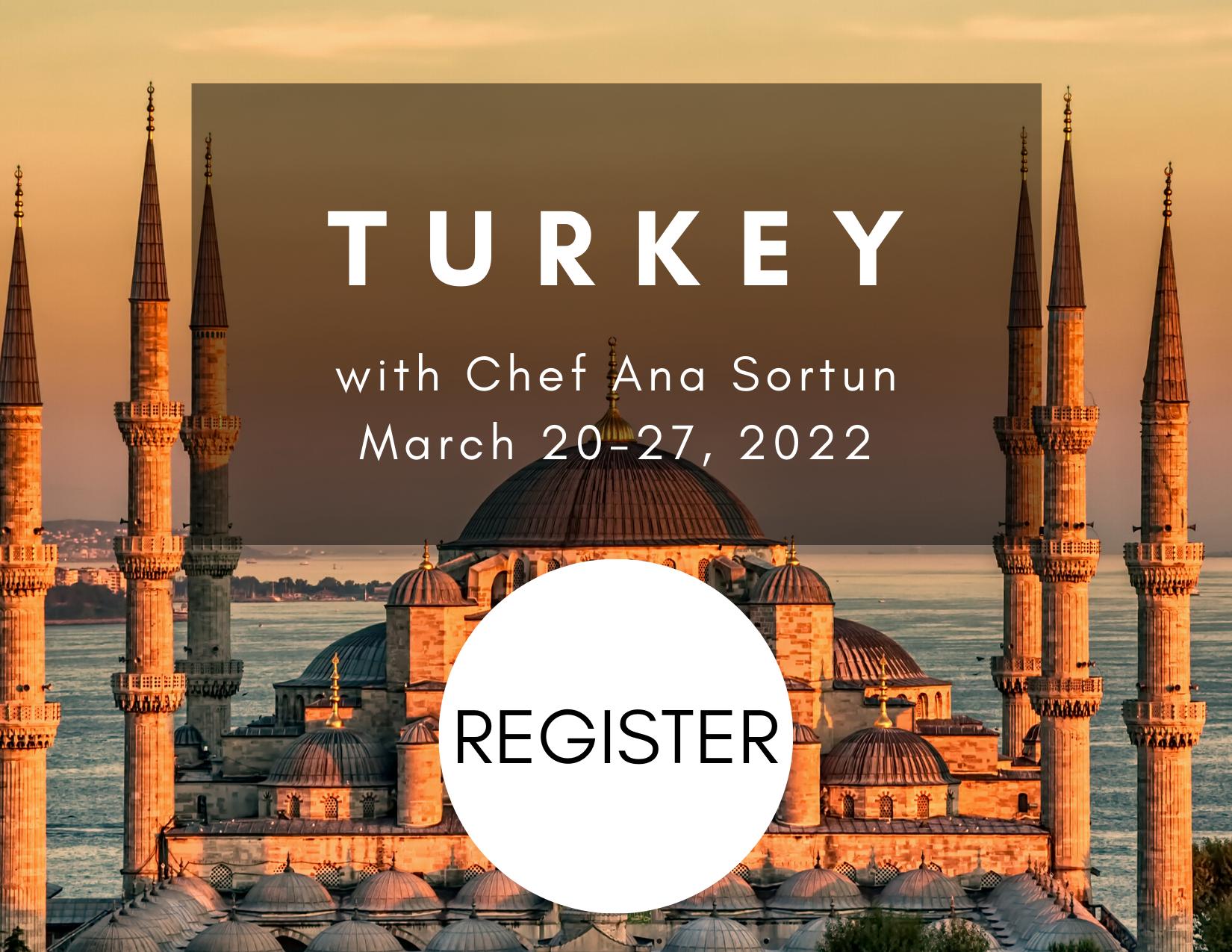 Turkey with register button