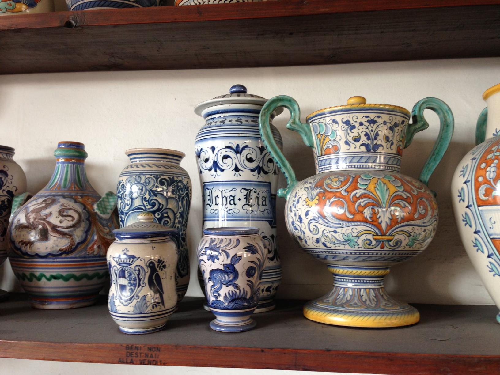 Deruta ceramics from Umbria, Italy