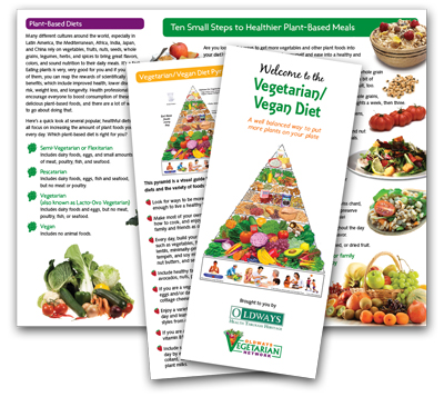 Vegetarian and Vegan Diet Brochure