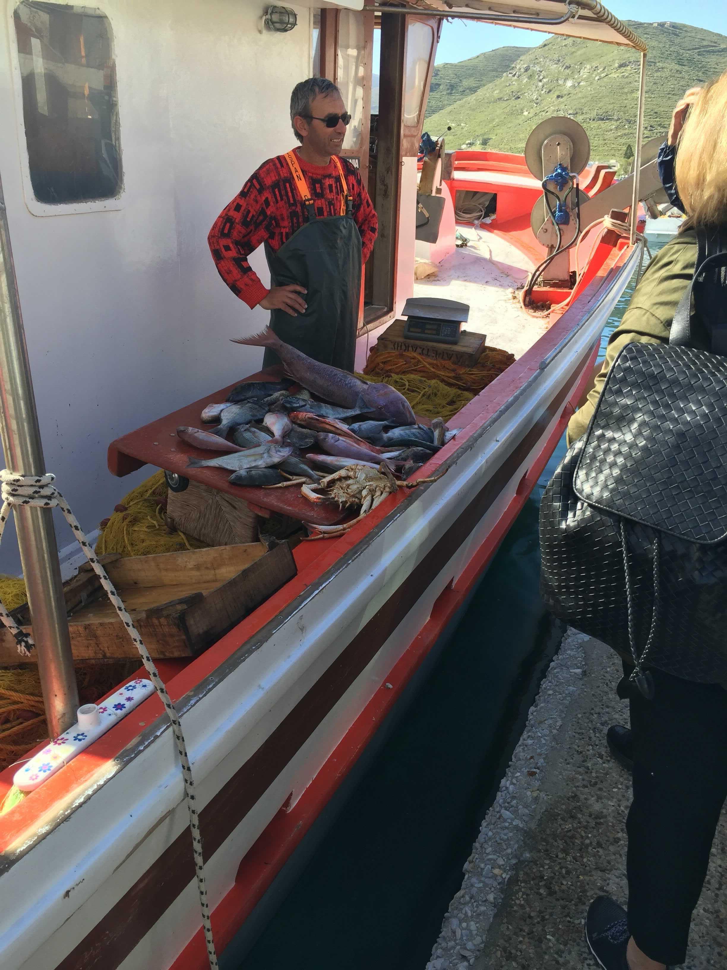 fishing boat in greece