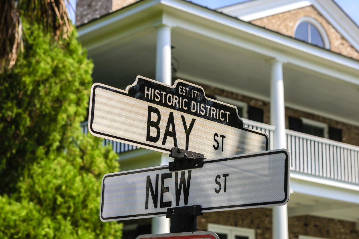 Street signs in Beaufort