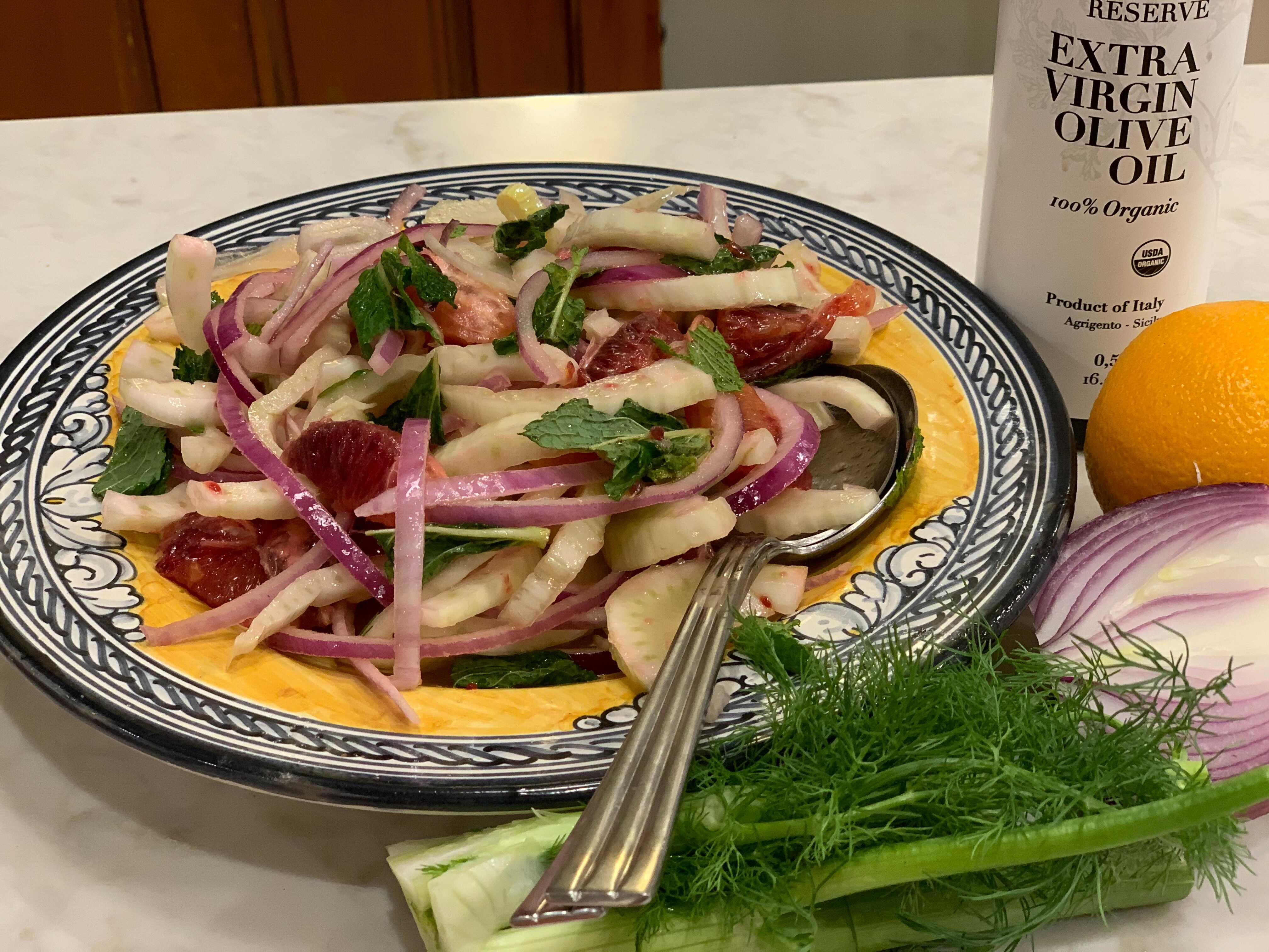 Sicilian Citrus Salad with Fennel and Red Onion